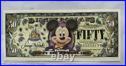 2005 $50 Disney Dollar Mickey Mouse 50th anniversary series Disney Land