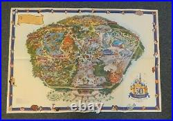 2005 Disneyland 50th Anniversary Happiest Homecoming On Earth Park Souvenir Map