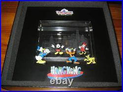 2007 HKSAR HONG KONG 10 Anniversary Disneyland HKDL Disney Crystal Pins LE500