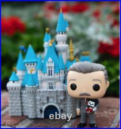 2 Disneyland 65th Anniversary Sleeping Beauty Castle with Walt Disney Funko Pops
