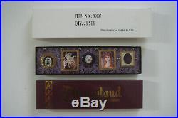 46176 Disney 50th Anniversary Disneyland Haunted Mansion lenticular Pin set LE
