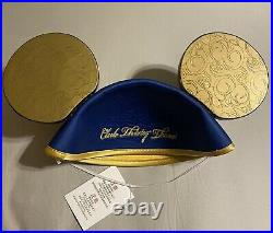 Brand Newith Never Worn Disneyland Club 33 65th Anniversary Mickey Mouse Ears