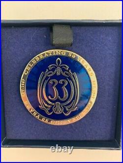 Club 33 Disneyland Challenge PIN Coin 50th Anniversary 2017 LE 500 PIN NIB