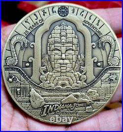 Club 33 Disneyland LE300 Indiana Jones Attraction Coin 25th Anniversary Medallio