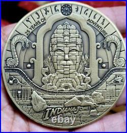 Club 33 Disneyland LE300 Indiana Jones Coin 25th Anniversary Medallion