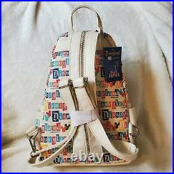 DISNEYLAND PARK 65th ANNIVERSARY LOUNGEFLY MINI BACKPACK IN HAND SHIPS FAST