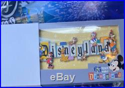 DISNEYLAND PARK 65th ANNIVERSARY MARQUEE BOXED JUMBO PIN LIMITED READY TO SHIP