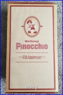 DISNEYLAND PINOCCHIO 65TH ANNIVERSARY PORCELAIN DOLL LTD ED COA 531 of 1000