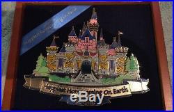 DISNEY jumbo Sleeping Beauty Castle 50th Anniversary DLR LE Pin Disneyland