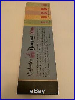 Disney Anniversary 3 Vinylmation A B C D E Ticket Book LE 1955 + Pin