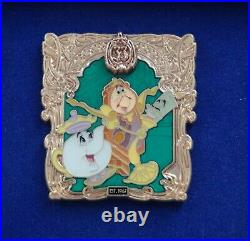 Disney Club 33 50th Anniversary BEAUTY AND THE BEAST 2017 LE 500 PIN Disneyland