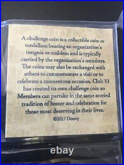 Disney Disneyland Club 33 Challenge Coin 50th Anniversary Members Only NEW