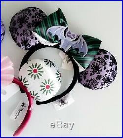 Disney Disneyland DLR Haunted Mansion 50th Anniversary Minnie Ear Headband Set