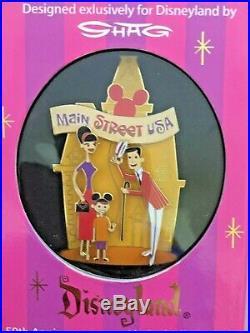 Disney Disneyland Shag 50TH Anniversary LTD ED 1955 Jumbo Pin Lot of 3 NIB
