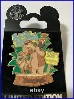 Disney Disneyland Splash Mountain 20th Anniversary Brer Rabbit, Fox & Bear pin