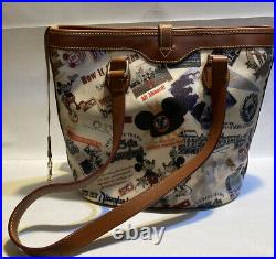Disney Dooney & Bourke Disneyland 55th Anniversary Bucket Tote Handbag