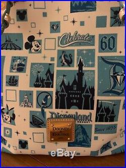 Disney Dooney & Bourke Disneyland 60th Anniversary Diamond Tote New