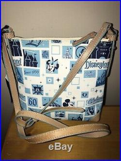 Disney Dooney & Bourke Disneyland 60th Anniversary Letter Carrier Crossbody New