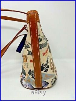 Disney Dooney & Bourke Walt Disneyland Tote 55th Anniversary Bucket Bag Mickey