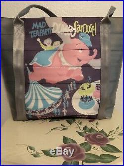 Disney Harveys Seatbelt Dumbo Poster Tote Disneyland 60th Anniversary