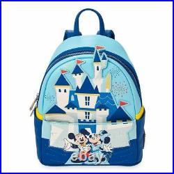 Disney Mickey & Minnie Mini Backpack Loungefly Disneyland 65th Anniversary NEW