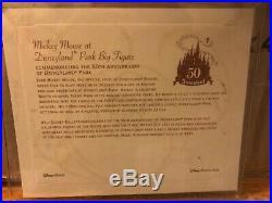 Disney Mickey Mouse at Disneyland Park Figure 50th Anniversary Big Fig + Box/COA