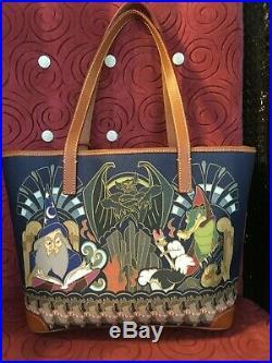 Disney Parks Fantasia Mickey Sorcerer Dooney & Bourke 80th Anniversary Tote Bag