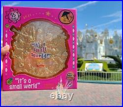 Disney Parks It's a Small World 55th Anniversary Pin Limited Edition GOLD Jumbo