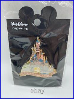 Disney Pin WDI Paris Disneyland 50th Anniversary Castle Limited Edition 500