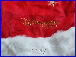 Disney Stitch Santa Hat Disneyland Resort Paris RARE 20th anniversary Christmas