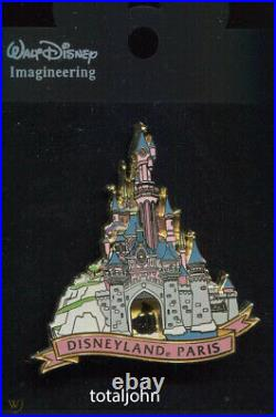 Disney WDI Paris Disneyland 50th Anniversary Castle Aurora Pin