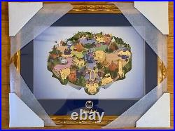 Disneyland 10Th Anniversary Pin Trading Framed Pin Set LE 100 NIB