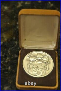 Disneyland 25th Anniversary Tmi 1/10 Silver Filled Coin