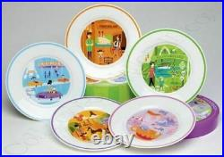 Disneyland 50th Anniversary Collectible Plate Set By Shag-mint Inbox