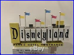 Disneyland 50th Anniversary Event Lighted Marquee With 3 Pins Le 300 Rare