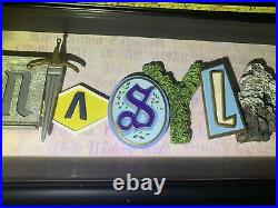 Disneyland 50th Anniversary Fantasyland Icon Letters Shadow Box by Dave Avanzino