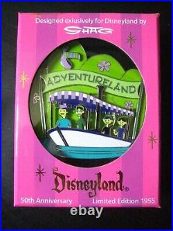 Disneyland 50th Anniversary Jumbo Pin Set By Shag Ltd Edition Only 1955