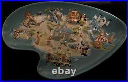 Disneyland 50th Anniversary Shag Retro Trinket/Candy Dish-Excellent Condition