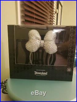 Disneyland 60th Anniversary Crystal Minnie Mouse Ear Headband VERY RARE