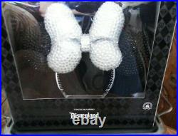 Disneyland 60th Anniversary Crystal Minnie Mouse Ear Headband VERY RARE NIB