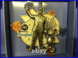 Disneyland 60th Anniversary Walt And Mickey Super Jumbo Pin LE 500 (B6)