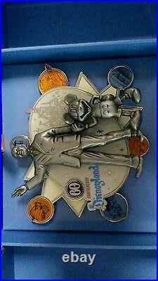 Disneyland 60th Anniversary Walt Disney & Mickey Mouse Super Jumbo Pin LE 500