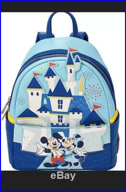 Disneyland 65TH ANNIVERSARY Loungefly Backpack Mickey Minnie Castle IN HAND
