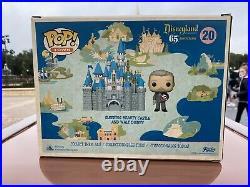 Disneyland 65th Anniversary Funko Pop Walt Disney & Sleeping Beauty Castle New