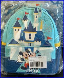Disneyland 65th Anniversary Loungefly Mini Backpack IN HAND