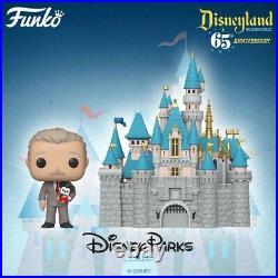 Disneyland 65th Anniversary Sleeping Beauty Castle with Walt Disney Funko Pop