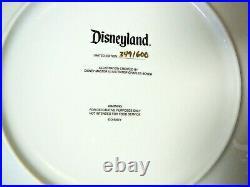 Disneyland Club 33 Plate 9 1/2 30th Anniversary LE #349/600 NIB
