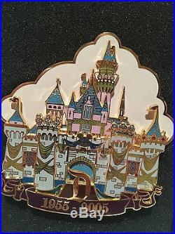 Disneyland DLR 50th Anniversary Pin Cast Exclusive Jumbo Jeweled Castle