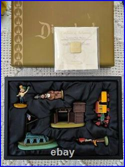 Disneyland Frontierland Pewter Figurines Set, 50th Anniversary LE 1500 RARE
