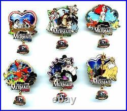 Disneyland Little Mermaid (Ariel) 15th Anniversary 6-Pin Set